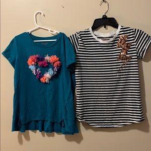 Cat & Jack Shirts & Tops - Girls Cat & Jack Large 10-12 tops shortsleeved EUC